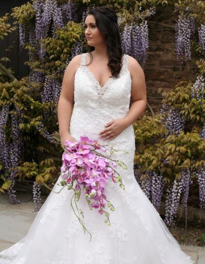 lace fishtail Bridal gown