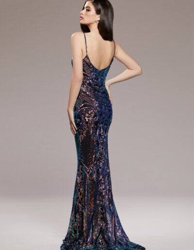 fitted sequin strappy Prom dress
