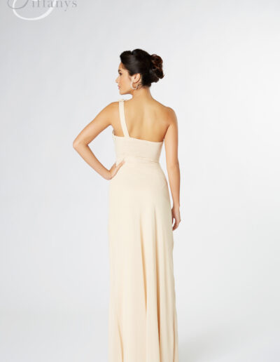 chiffon bridesmaid dress