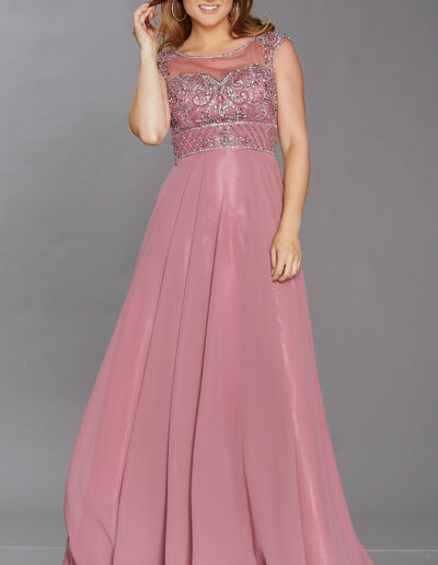 heavily beaded bodice chiffon skirt Prom dress Taunton